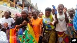 Quelques ivoiriennes , lors de dernières élections en Côte d'Ivoire