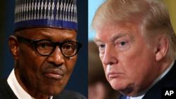 Президент США Дональд Трамп. Президент Нигерии Мохаммаду Бухари