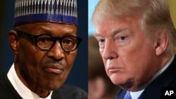 Buhari (Hagu) Trump (Dama)