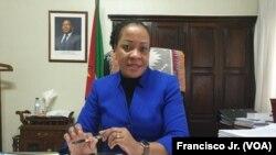 Helena Kida, ministra da Justiça, Assuntos Constitucionais e Religiosos, Moçambique. Abril, 2020