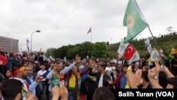 HDP-çilərin İstanbulda nümayişi. 8 iyun, 2015.