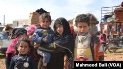 Người tị nạn ở miền bắc Syria.