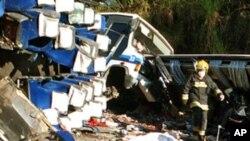 برازیل: ٹریفک حادثے میں 25 افراد ہلاک