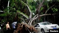 Posledice tajfuna Matmo u kineskoj pokrajini Fudžijan, 23. juli, 2014.