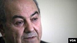 Mantan PM Irak, Ayad Allawi tidak menghadiri sidang parlemen Irak hari Sabtu.