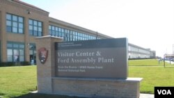 The Ford assembly plant building is part of the Rosie the Riveter Urban National Park in Richmond, California. (J. Sluizer/VOA)
