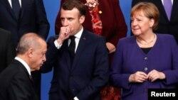 Macron-Erdogan-Merkel