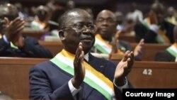 Le président du Sénat Jeannot Ahoussou Kouadio, à Yamoussoukro, le 5 avril 2018. (Facebook/Jeannot Ahoussou Kouadio)