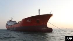 韩国上周五宣布在11月份查获了一艘悬挂香港旗帜的运油船(2017年12月29日)