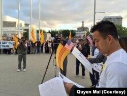 Quyền Mai trong một lần tham gia sự kiện của cộng đồng Việt Nam ở San Jose. (Courtesy of Quyen Mai)