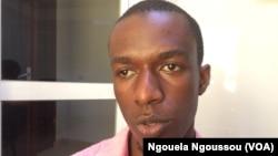 Jean Claude Nkundineza, président de l'Association des étudiants rwandais à Brazzaville, le 30 septembre 2017. (VOA/ Ngouela Ngoussou)