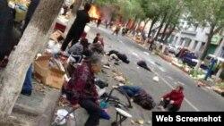 乌鲁木齐市沙依巴克区公园北街文化宫早市发生爆炸(网络图片)