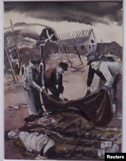 "Holocaust Art Hallye ""Civilians Covering Corpses"""