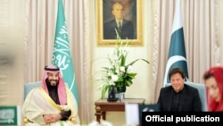 وزیراعظم عمران خان او سعودي ولي عهد محمد بن سلمان