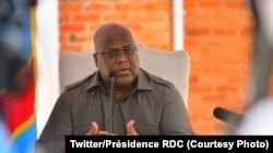 Le président Félix Tshisekedi à Goma, Nord-kivu, 8 octobre 2020. (Twitter/Présidence RDC)