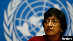 FILE - U.N. High Commissioner for Human Rights Navi Pillay.