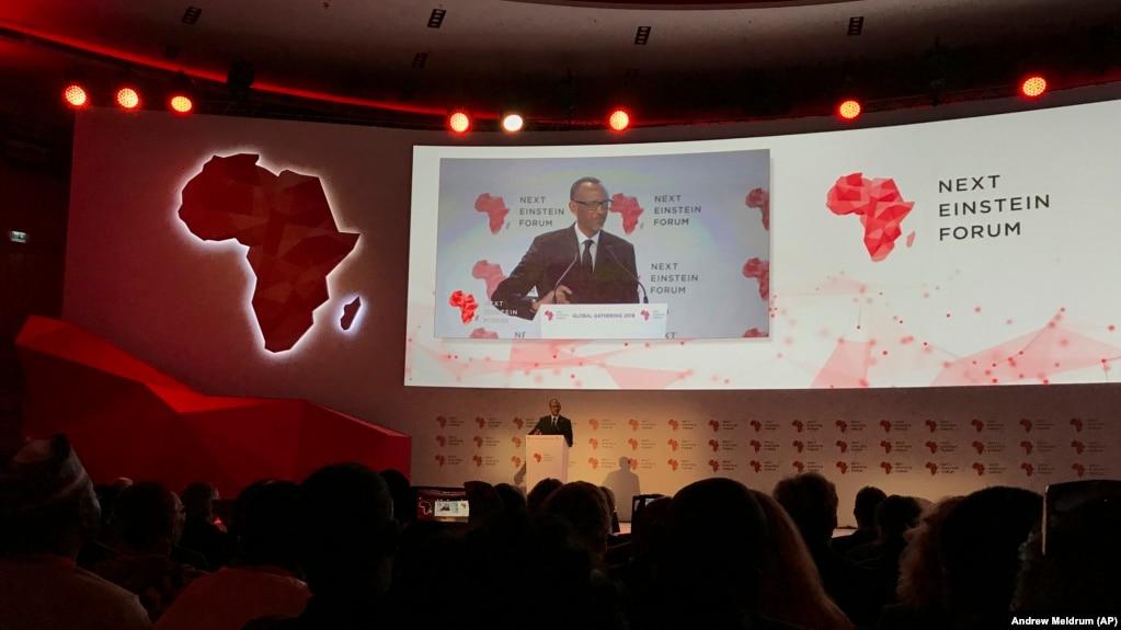 Rwanda's President Paul Kagame opens the Next Einstein Forum conference in Kigali, Rwanda in March 2018.