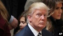 Le président élu des Etats-Unis Donald Trump, 27 janvier 2017.