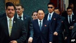 Le général nord-coréen Kim Yong Chol à New York, le 30 mai 2018.