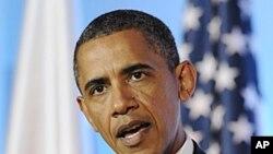 美国总统奥巴马5月28日在波兰华沙的记者会上