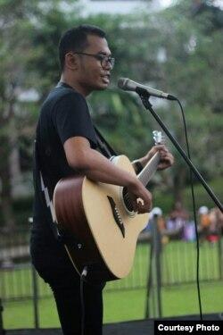 Guru musik Al-azhar di Medan, Tri Adinata (dok: Tri Adinata)
