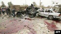 Mesto eksplozije bombe u Kirkuku, 250 kilometara severno od Bagdada, 19. maja 2011.