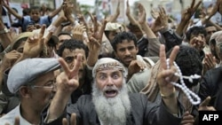 Prizor sa demonstracija u Sani na kojima učesnici traže ostavku dugogodišnjeg predsednika Alija Abdule Saleha