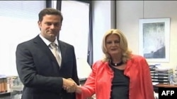 Šefovi pregovaračkih timova Beograda i Prištine, Borislav Stefanović i Edita Tahiri.