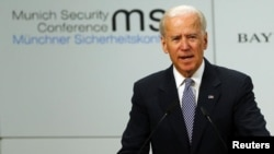 Vice President Joe Biden gives a speech at the 49th Conference on Security Policy in Munich February 2, 2013.