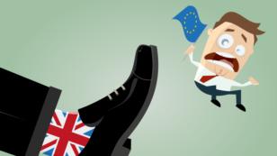 Britain's vote to exit EU cartoon