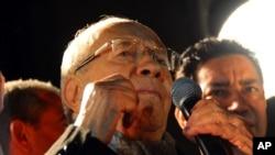 L'ex-Premier ministre tunisien Béji Caïd Essebsi, victorieux de la présidentielle de dimanche en Tunisie (AP)