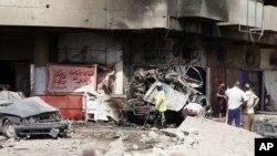 Poprište današnjeg bombaškog napada u bagdadskoj četvrti Karada