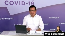 Jubir Satgas Penanganan COVID-19 Prof Wiku Adisasmito dalam telekonferensi pers di Graha BNPB, Selasa, 1 Desember 2020 mengungkapkan tren penularan virus Corona masih tinggi di masyarakat (Foto: VOA)