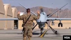 Một chiếc máy bay không người lái của quân đội Hoa Kỳ.