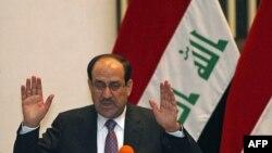 Прем'єр-міністр Нурі аль-Малікі промовляє в парламенеті Іраку