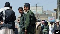Cảnh sát Yemen tại một chốt kiểm soát ở thủ đô San'aa