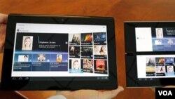Beberapa produk Sony. Sony mengumumkan kerugian untuk tahun fiskal yang berakhir Maret, Senin (23/5).