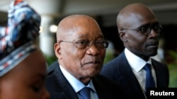 South African President Jacob Zuma tours the World Economic Forum on Africa meeting in Durban, South Africa, May 3, 2017.