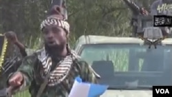Shugaban 'yan kungiyar Boko Haram Abubakar Shekau.