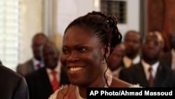 Simone Gbagbo, l'ex-Première dame ivoirienne, lors de l'investiture de son mari Laurent Gbagbo, au Palais présidentiel d'Abidjan, Côte d'Ivoire, 4 décembre 2010.