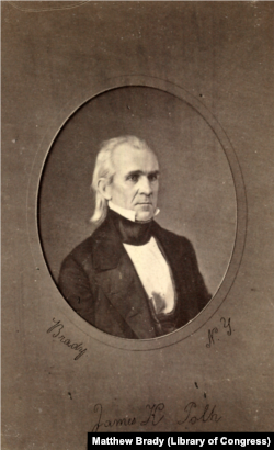 James Polk, about 1849