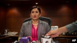 """La exfiscal de Guatemala, Thelma Aldana ha acusado a sus adversarios políticos, a quienes encarceló por actos de corrupción y al propio presidente Morales, de estar detrás de lo que llama un """"pacto de corruptos""""."""