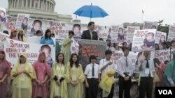 미국 내 한인 기독교단체인 `북한의 자유를 위한 미주한인 교회연합(KCC)'이 매년 주최하는 횃불대회 행사.