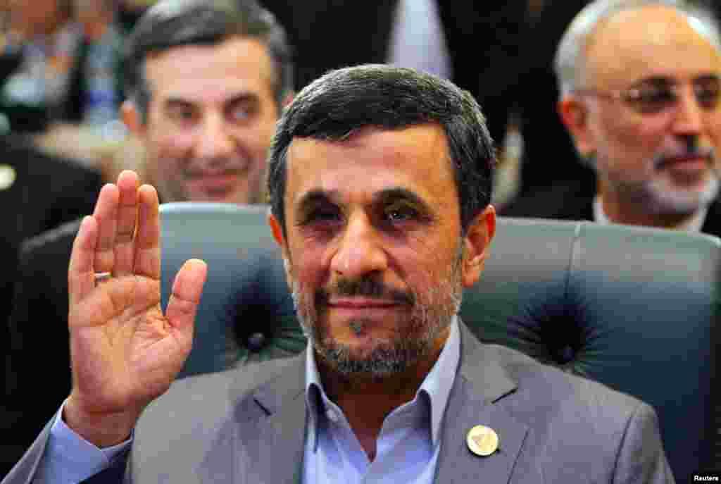 이슬람협력기구 정상회의(OIC)에 참석한 마흐무드 아마디네자드 이란 대통령.
