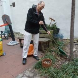 Noah Kaufman helps manage the 111th Street Community Play Garden.