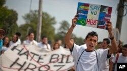 En 2011 estudiantes protestaron por la ley que impedía la admisión a las mejores universidades de Georgia por no tener presencia legal en EE.UU.