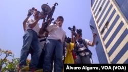 Leopoldo Lopez se entregó a las autoridades venezolanas el 18 de febrero de 2014.