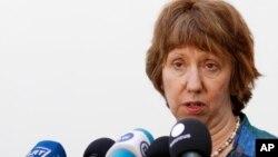 欧盟外交政策主管凯瑟琳·阿什顿(资料照)