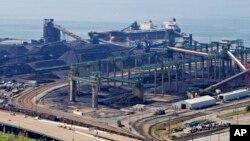 Terminal charbonnier, Newport News, Virginie, Etats-Unis, le 27 avril 2016.