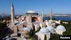 Hagia Sophia or Ayasofya, a UNESCO World Heritage Site, that was a Byzantine cathedral before being converted into a mosque which is currently a museum, is seen in Istanbul, Turkey, June 28, 2020. (REUTERS/Murad Sezer)